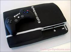 Play station cake. Video Game Cakes, Video Game Party, Video Games, Geek Birthday, Sons Birthday, Birthday Ideas, Birthday Cakes, Birthday Parties, Funny Grooms Cake