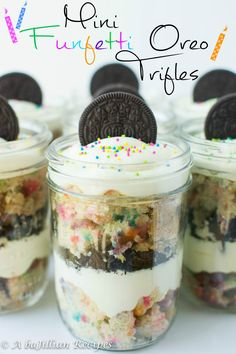Mini Funfetti Oreo Trifles