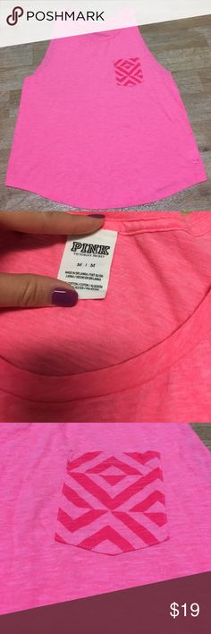 PINK Victoria's Secret tank LIKE NEW! Mint condition loose tank, perfect for upcoming summer weather PINK Victoria's Secret Tops Tank Tops