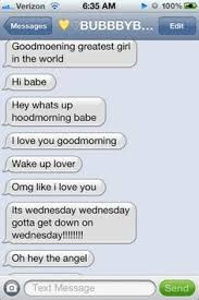Image result for cute boyfriend text messages