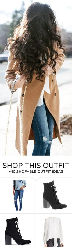 #winter #fashion / Camel Coat / Ripped Skinny Jeans