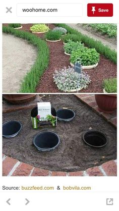 Simple, easy and cheap DIY garden landscaping idea. Simple, easy and cheap DIY garden landscaping Front Yard Landscaping, Landscaping Tips, Outdoor Landscaping, Simple Landscaping Ideas, Acreage Landscaping, Lawn And Garden, Easy Garden, Garden Hose, Garden Planning