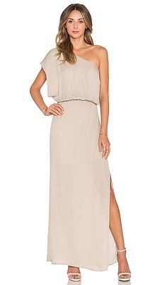 Bobi modal jersey plunge neck maxi dress