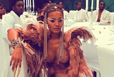 Selita Ebanks--- FormerVictoria's SecretmodelSelita Ebankshad a starring role in Kanye West's music video/short film,Runaway. The Caymanian beauty plays a phoenix who falls to Earth, only to be found by Mr. West. What proceeds is an ill-fated love affair between the musician and the bird, with everyone around them discriminating against the mythical creature, because of her out of the norm looks and behavior.