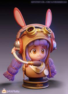 ArtStation - pilot, jingjing Jane Pilot, 3d Cartoon, Cute Characters, Artwork, Work Of Art, Auguste Rodin Artwork, Pilots, Artworks, Illustrators