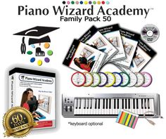 Piano Wizard Academy has changed the way we learn to play piano. A revolutionary award winning play-to-learn music system designed for kids 3-99. Finally, the joy and benefits of music are available to everyone!