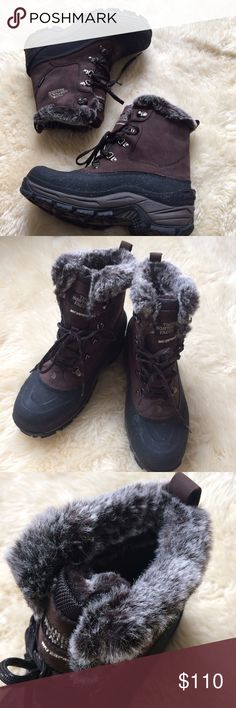 ⚡Host Pick⚡️The North Face Men's Mcmurdo Boots Only worn for a weekend ski trip. Excellent condition!  Faux-fur collar detail. Keep you warm and dry. No rips or stains. Include original box. North Face Shoes Rain & Snow Boots