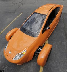 The three-wheeled $6,800 (£4,075) vehicle seats two passengers and goes 0-60 mph in 9.6 seconds. Phoenix-based Elio Motors plans to start making the vehicles for the US market next autumn