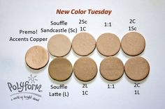 New Color Tuesday – the Neutrals ~ Polymer Clay Colormix Polymer Clay Recipe, Polymer Clay Tools, Sculpey Clay, Polymer Clay Projects, Polymer Clay Creations, Polymer Clay Jewelry, Color Mixing Chart, Color Blending, Play Clay