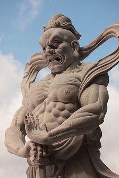 Buddhist statue 仏像 - 念佛宗(念仏宗無量寿寺) 南門 仁王像010