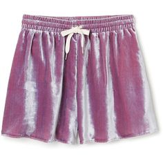 Misha Shorts ❤ liked on Polyvore featuring shorts, elastic waist shorts, relaxed shorts, elastic waistband shorts, draw string shorts and velvet shorts