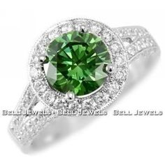 i saw a green diamond ring in the window of my small town's jewelry shop. now i can't get it out of my head! so beautiful