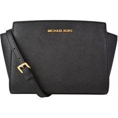 Michael Michael Kors Selma Medium Messenger Bag (21.815 RUB) ❤ liked on Polyvore