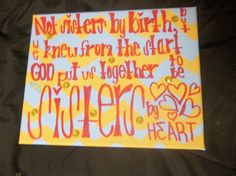 """""""Not Sisters by birth but we knew from the start GOD put us together to be sisters by heart"""" <3 Sorority sister Christmas present for my best friend, rooms, other half etc. Alpha Gamma Delta love"""