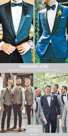24 Groomsmen Attire In Classic Style, Vest, Tuxedo & Casual ❤ We know how anything goes when it comes to a groom's and groomsmen attire. Take a look how it looks great in several styles and make your decision! See more: www.weddingforward.com/groomsmen-attire/ #weddings #groomsmen