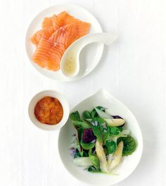 ... Asparagus Salad with Cured Salmon. Delightful! - Olive Oils from Spain