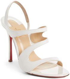 564ec9893b2 White Leather  Vavazou  Asymmetric Sandals Slingback Sandal