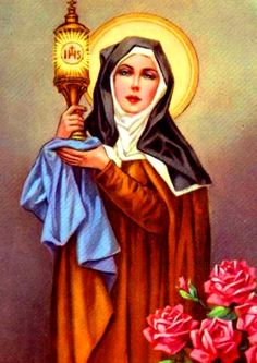 Saint Clare. Saint Clare of Assisi. Feast Day - August 12