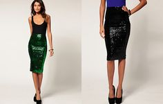 Sequin skirt from ASOS. Love the black one