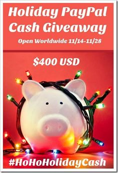 Enter to win $400 USD vis PayPal in the #HoHoHolidayCash  Giveaway_@DownshiftingPRO  Open World Wide. Ends November 28.16.  Make sure and visit all the @DownshiftingPRO sites listed!