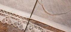διακοσμητικη βελονια για δαντελα Sewing Lace, Hand Sewing, Heirloom Sewing, Crochet Crafts, Hand Stitching, Embroidery Stitches, Cross Stitch, Quilts, Pattern