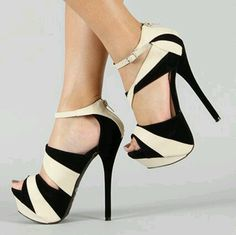 Nice Black and whitish brown Woman shoes