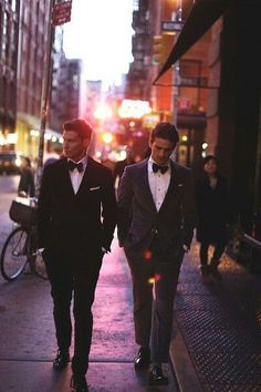 well-dressed buddies.