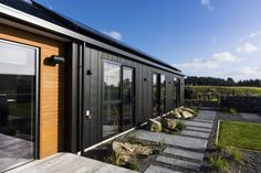 Black Cladding, Steel Cladding, Cedar Cladding, Exterior Cladding, Building Facade, Building Design, Fibre Cement Cladding, Glamping, New Zealand Houses