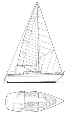 Comet 801 drawing on sailboatdata.com