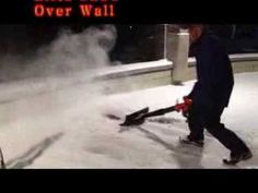 Backyard Ice Rink Cleaning Snow with Air Jet Shovel Leaf Blower Snow Removal Backyard Ice Rink, Leaf Blower, Shovel, Ice Skating, Jet, How To Remove, Snow, Youtube, Watch
