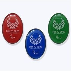 2020 TOKYO OLYMPIC Emblem Three Pin badge 3 Set Oval PINS Official NEW JAPAN F/S #Tokyoolympics