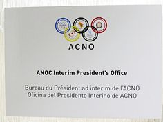 A sign of the times – Sheikh Ahmad's ANOC office. (ATR)  Add Around The Rings on www.Twitter.com/AroundTheRings & www.Facebook.com/AroundTheRings for the latest info on the Olympics.