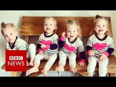 Quadruplets: Mum with four two-year-olds - BBC News Identical Quadruplets, Identical Twins, Gardner Quad Squad, Four Two, Multiple Births, Twin Girls, Two Year Olds, Triplets, Bbc News