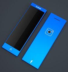 Blue Experience, Facebook Phone, Tolga Tuncer, FB phone, future phone, future cellphone, future mobile phone, facebook, Like Button, future gadget, future device, phone, mobile phone, concept, technology, device, cellphone