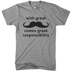 Mustache Responsibility Tee