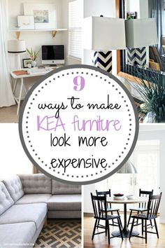 IKEA furniture doesn't have to look like where it came from! Here are great ways to dress up your IKEA furniture.  DIY, DIY Home, IKEA Furniture, Things to Do With IKEA Furniture, How to Style IKEA Furniture, DIY Home Decor, homemade Furniture, DIY Furniture for the home