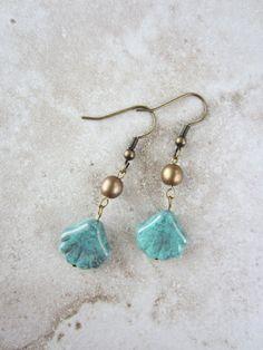 Boho aqua bead earrings. Only at studio1227!!