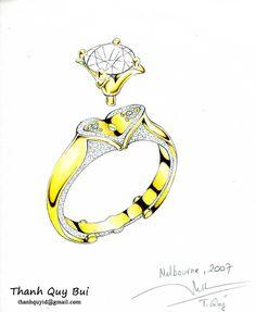 Janai's diamond ring sketch...♡