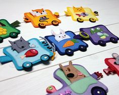 Finger puppet, Sensory buckle toy, Puppet theatre, Train toy, Forest animal toys, Fine motor skills, Rainbow colored train, Baby gift