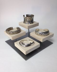 Bracelet display riser, ring display, jewelry display, craft show display, booth display, store display by UniqDisplay on Etsy https://www.etsy.com/listing/241813718/bracelet-display-riser-ring-display