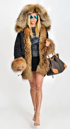 american parka with fur - military parka coat raccoon fur