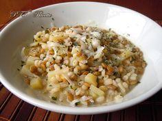Zuppa di orzo, lenticchie e patate. #primopiatto #zuppa #lenticchie  #orzo #patate #ricetta #recipe #italianfood #italianrecipe #PTTRicette