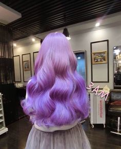 gorgeous lavender purple hair