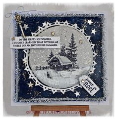 Christmas card using Artistic Outpost stamps