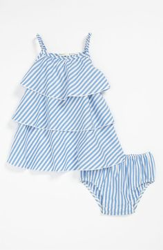 United Colors of Benetton Kids Stripe Dress & Bloomers (Infant) available at #Nordstrom