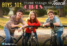 Boys 101: 3 things to teach girls about boys