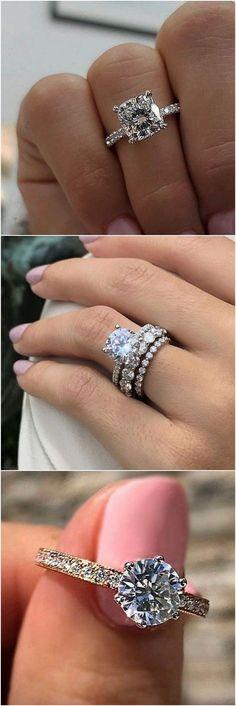 Wedding engagement rings for 2018 #wedding #weddingrings #engagementrings