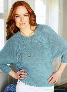 Вязание спицами для женщин. Пуловер вязанный спицами. Описание вязания пуловера спицами. Картинки увеличиваются при нажатии. …