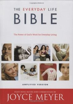 The Everyday Life Bible: The Power of God's Word for Everyday Living by Joyce Meyer, http://www.amazon.com/dp/0446578274/ref=cm_sw_r_pi_dp_ykOOpb0S48NR5