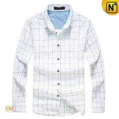 Mens Plaid Long Sleeve Button Down Shirts CW114567 $89.89 - www.cwmalls.com